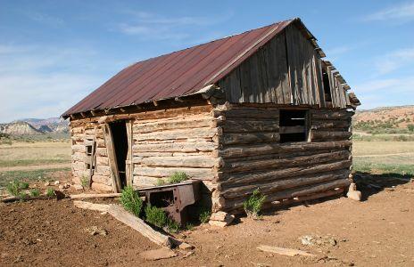Photo Of Old Log Cabin In Cottonwood Canyon Utah