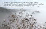Foggy Coast with Quote
