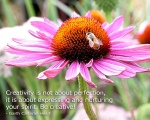 Flower and Bee with Quote