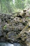 Natural Rock Wall in Rogue River Gorge