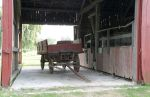 Old Wagon in Old Barn