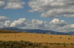 Clouds over Montana Hay Field -