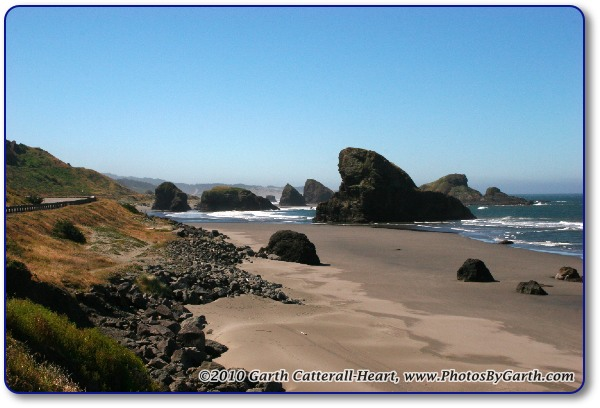 Rocks along the Oregon coast near Gold Beach 2