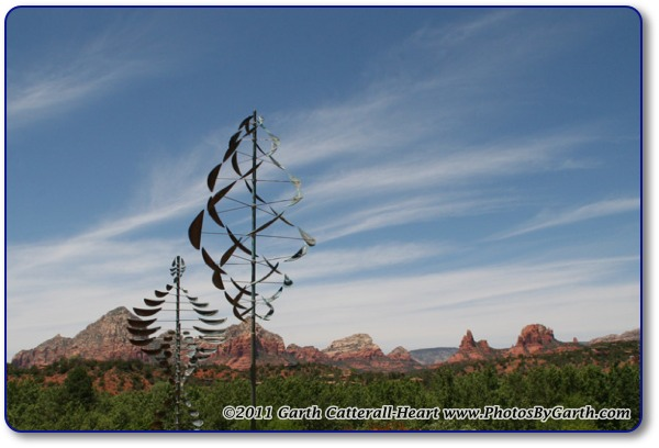 Mobile art with Sedona mountains
